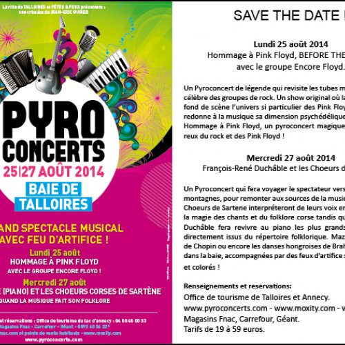 Save the date Pyroconcerts Talloires