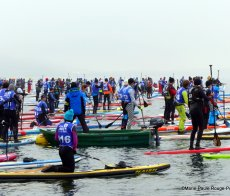 Glagla Race Stand Up Paddle en hiver Talloires