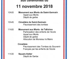 ceremonie 11 nov