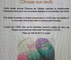 Chasse aux oeufs Abbaye