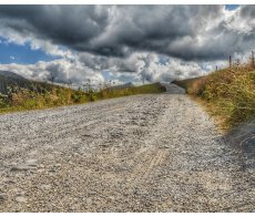 Plateau de Glieres gravel road RED