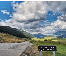 Summit of Col de Glieres RED